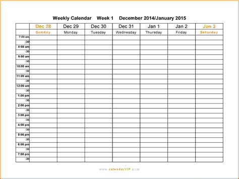 Printable Calendar Weekly October 2015 10 Free Weekly Printable Calendar Templates Lease Template