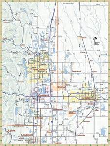 of northern colorado cus map northern colorado map maps