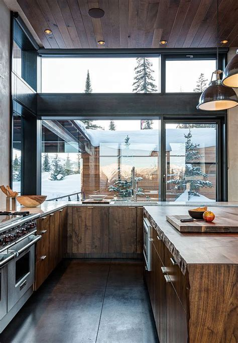 modern rustic kitchen modern rustic kitchen with glass window