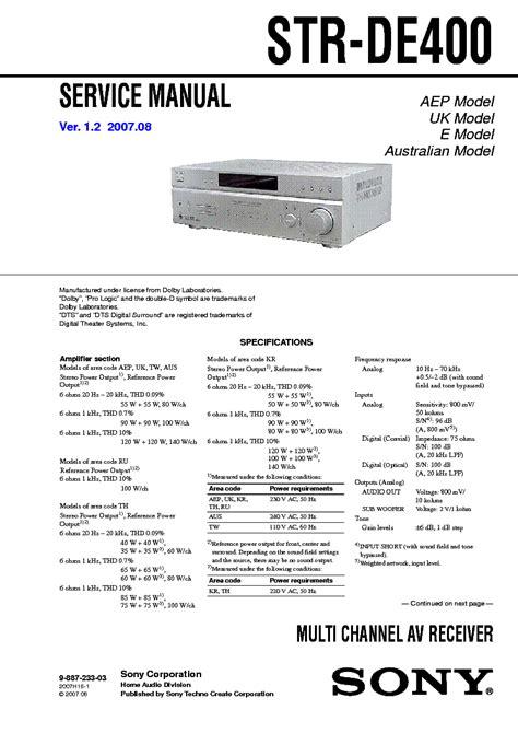 sony hcd      service manual