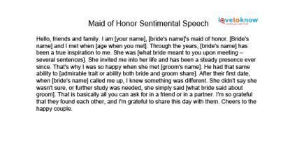 Maid Of Honor Speech 2 Bert Lou Entertaining Pinterest Maids Wedding And Weddings Of Honor Speech Template