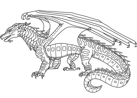 seawing dragon coloring page wings of fire free to use seawing lineart by