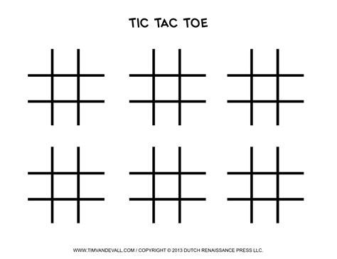 tic tac toe template word http timvandevall free printable tic tac toe