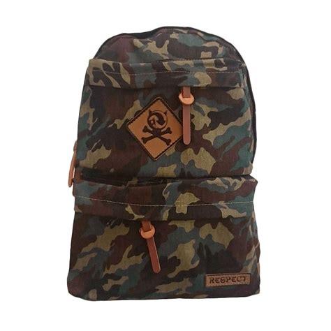 Ransel Canvas Respect Backpack jual bag stuff navy army respect coklat tas ransel