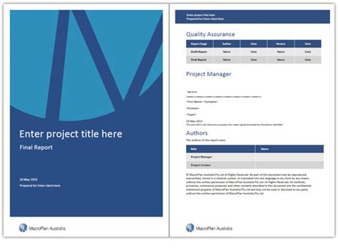 best photos of word report templates report cover page