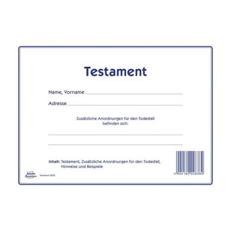Testament Vorlagen Muster Kostenlos Testament 2838 Avery Zweckform