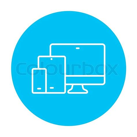 web mobile responsive web design line icon for web mobile and