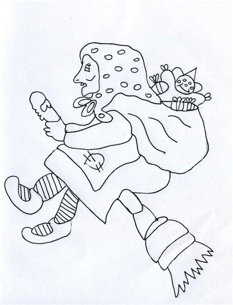 free coloring pages of le befana