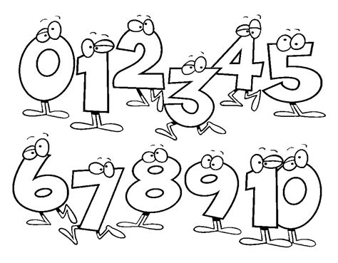 funny numbers coloring pages for preschool free coloring
