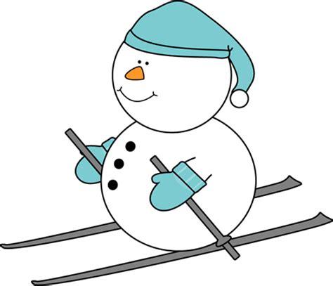 cute snowman clip art snowman skiing clip art snowman skiing image