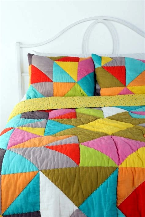Colorful Bed Quilts by Refresh Your Bedroom With Colorful Bedding And Pillows Interior Design Ideas Ofdesign