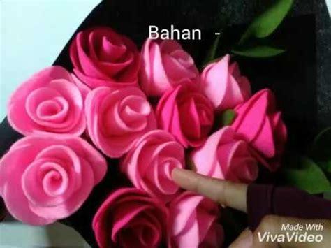 Bouquet Bunga Mawar Flanel Isi 6 Tangkai Untuk Anniversary Dll 7 diy felt roses bouquet cara membuat bunga mawar flanel untuk buket bunga