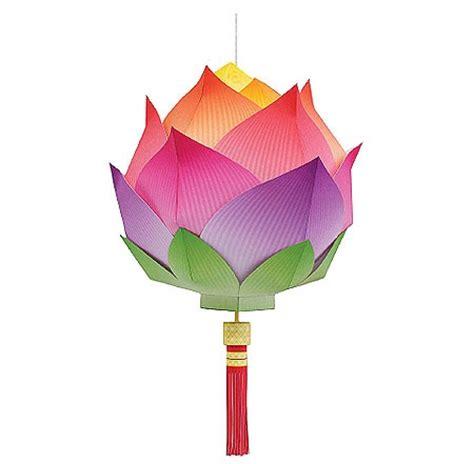 Lotus With Paper - lotus lantern papercraft paperkraft net free