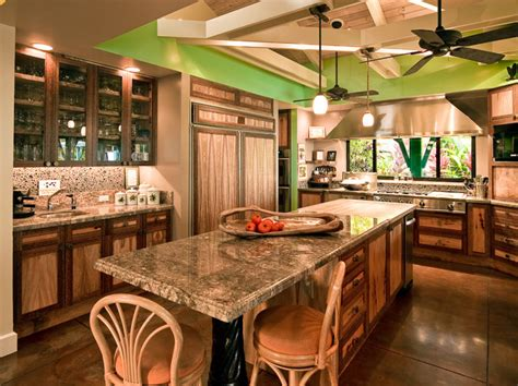 Tropical Kitchen Cabinets Hawaiian Cottage Style Tropical Kitchen Hawaii By