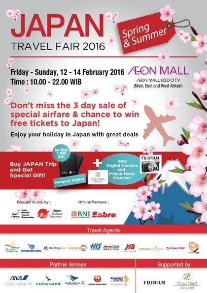 Tiket Promo Cathay Pacific Surabaya berburu tiket promo di japan travel fair 2016 panorama magazine