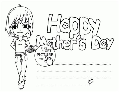 Day Card Templates To Colour by Mothers Day Drawing Pictures At Getdrawings Free For