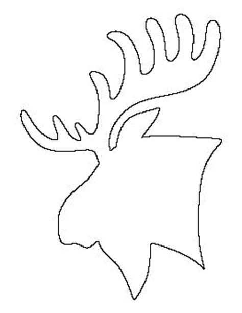 Moose Head Pattern Home Decor Pinterest Patterns Doodles And Zentangle Moose Cut Out Template