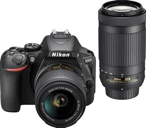 nikon d5600 dslr with 18 55mm and 70 300mm lenses black 1580 best buy