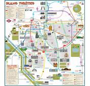 Tourist Map Of Madrid Attractions Sightseeing Museums Sites Sights