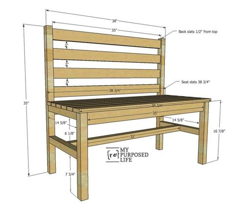 bench with back plans wooden slat bench plans rustic bench with back my