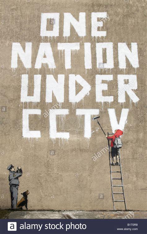 libro stencil nation graffiti community banksy one nation under cctv london uk stock photo royalty free image 18352524 alamy