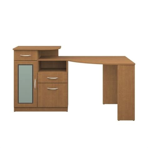 Bush Corner Desk Bush Vantage Corner Computer Desk In Light Dragonwood Hm66315a 03