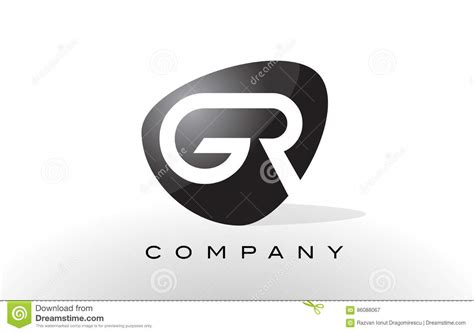 GR Logo. Letter Design Vector. Stock Vector - Illustration ... G R Logo
