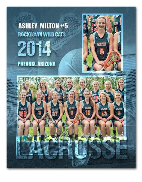 Lacrosse Sports Memory Mate Template Sports Templates For Photographers Sports Templates Free Sports Team Photo Templates Downloads