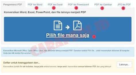 converter gambar ke word cara merubah word ke pdf 5 detik carapedi indonesia