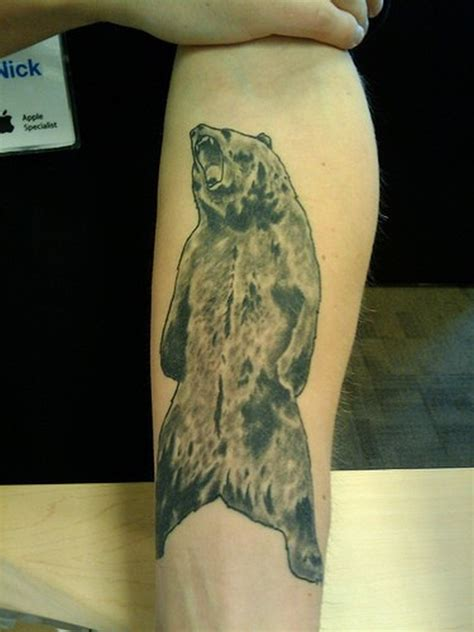 grizzly bear forearm tattoo tattoos book 65 000