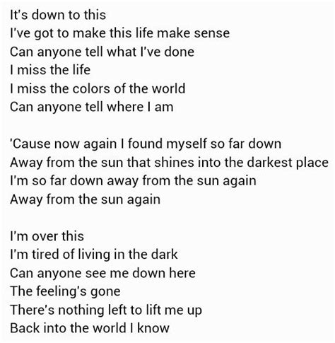 3 Doors Away From The Sun Lyrics by Away From The Sun 3 Doors Meaningful Song Lyrics