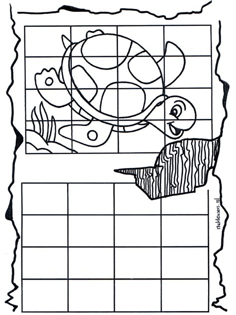 printable turtle puzzle drawing copy turtle free coloring pages mazes or