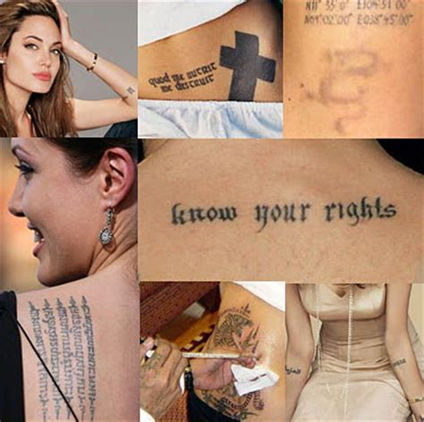 tattoo meaning angelina jolie celebrity tattoos