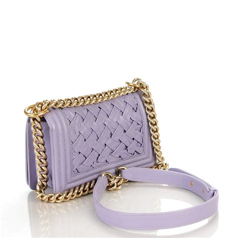 Chanel Oversized Clutch Lilac chanel lambskin woven small chateau boy flap lilac 138522