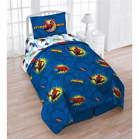 superhero twin bedding spiderman pow twin bed in bag marvel comics superhero comforter bedding set ebay
