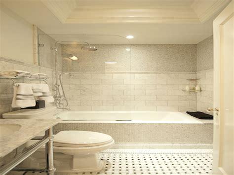 marble subway tiles drop in bathtub tub tiled interior designs
