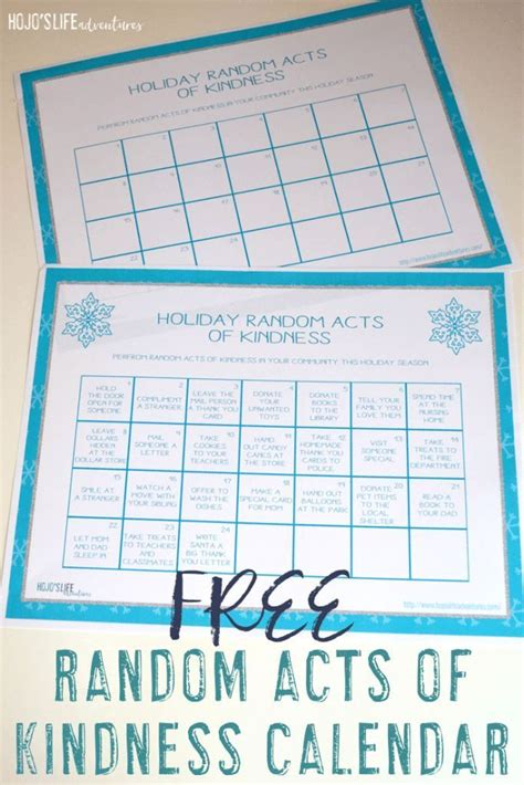 random acts of kindness template 1000 ideas about free blank calendar on blank