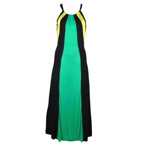Dres Jamaica jamaican drawstring razorback maxi dress
