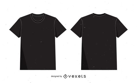 graphic design mock up shirt t shirt mockup template in black over white vector download