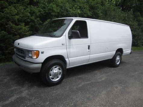 how cars run 2001 ford econoline e350 electronic toll collection buy used 2001 ford e 350 extended 1 ton cargo van 7 3l powerstroke diesel runs great in