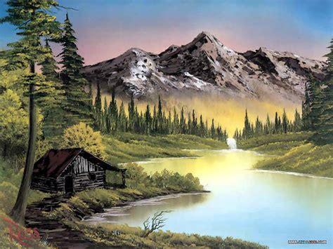 bob ross paintings hd wallpaper landscape