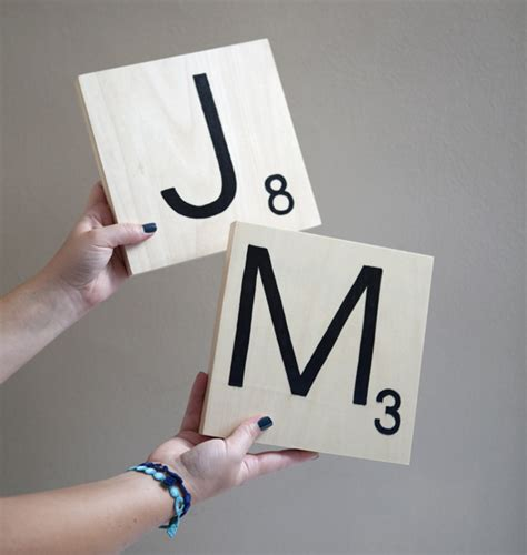 Scrabble Letters Home Decor by How To Make Giant Scrabble Tile Table Numbers