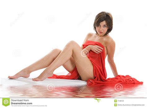 beautiful lady beautiful lady with red cloth stock image image 7148131