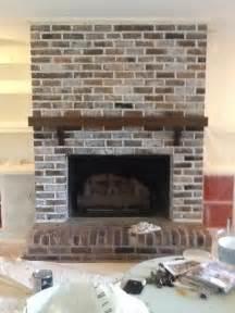 brick fireplace whitewash