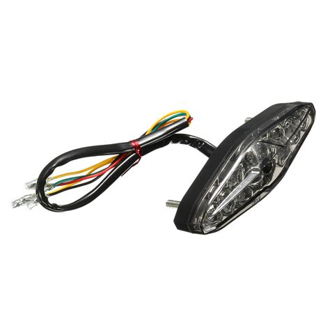 Motorcycle 15 Led Rear Tail Brake Stop Running Turn Signal Led Brake Light Motorcycle