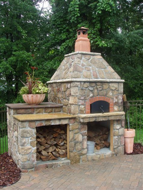 Backyard Wood Fired Oven by Outdoor Hip Roof Wood Fired Pizza Ovens Mediterranean