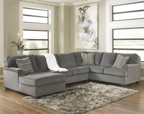 ashley furniture sectional sofas ashley furniture loric smoke contemporary 3 piece