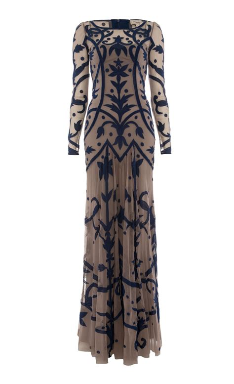 dress tattoo lyst temperley francine dress in blue