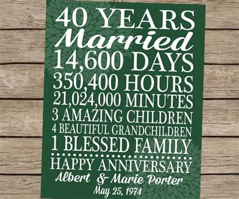 wedding anniversary quotes 40 years 16 best 40th anniversary images on wedding