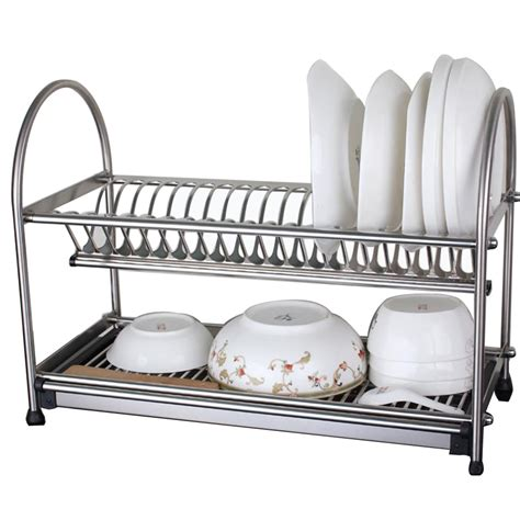 sus304 stainless steel dish drainer drying rack cutlery